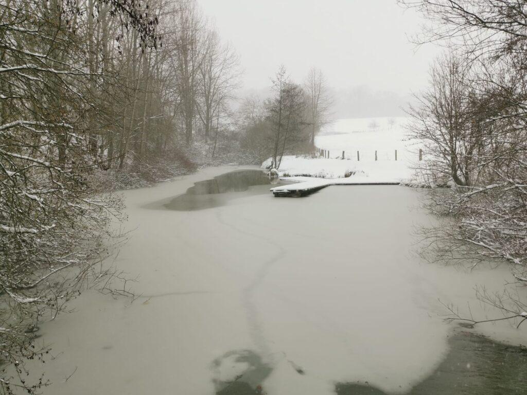 Der Angelsteg im Winter